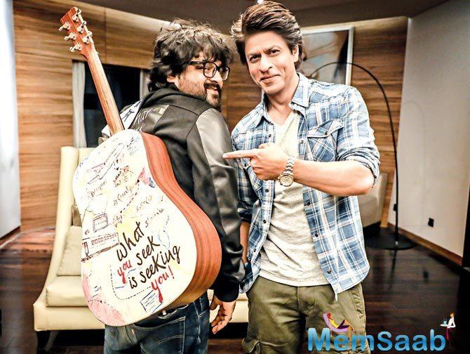 "Replying to Shah Rukh Khan's post Pritam said, ""Thank you sir! This gift is extremely special to me just like #JHMS music. To pass on the goodness, I'd put this on auction for charity."""