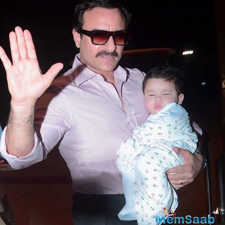 Kareena, on the other hand, understands that hers is a star baby, and unlike parents who do not like too much flash on their childs' faces, she is okay about it, and says times have converted.