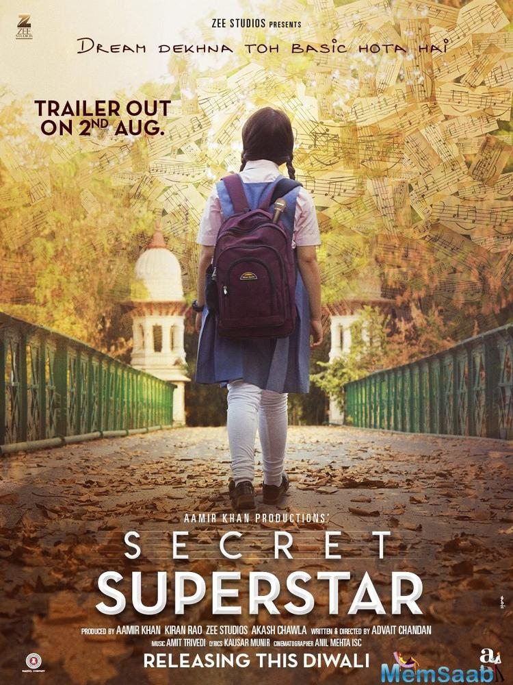 'Secret Superstar' is a musical drama film, written and directed by Aamir Khan's former manager, Advait Chandan.