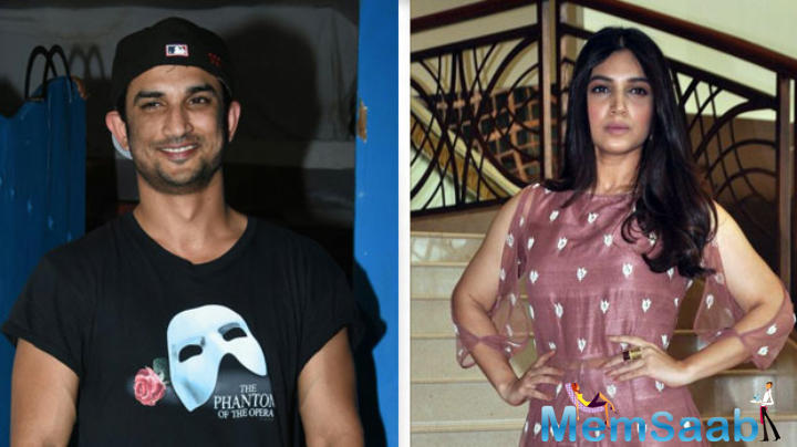 "It was reported,  ""Like Sushant, Bhumi too plays a dacoit. She plays his love interest and gave the nod a month ago."