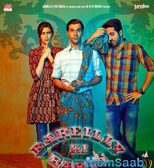 The new poster of Bareilly Ki Barfi is as quirky as the colourful film is.