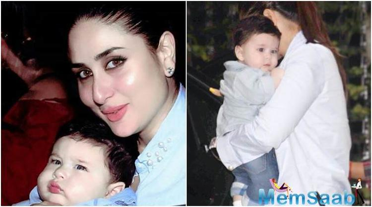 Dressed in his colourful best, Taimur looked adorable as always as his nanny carried him into the building.