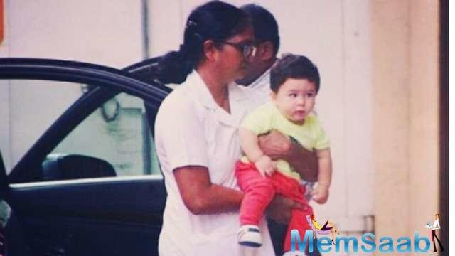 Media's favourite child Taimur Ali Khan was spotted making another royal appearance.