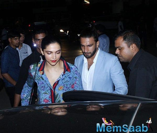 On a late Friday night, Ranveer and Deepika had gone out on a dinner date at a pub in Lower Parel.