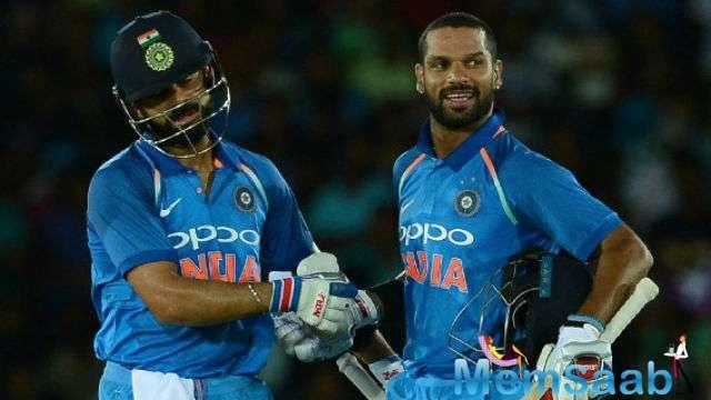 Dhawan was in marauding form, scoring 20 fours and 3 sixes, but Kohli also attacked the opposition during his 70-ball stay at the furrow.