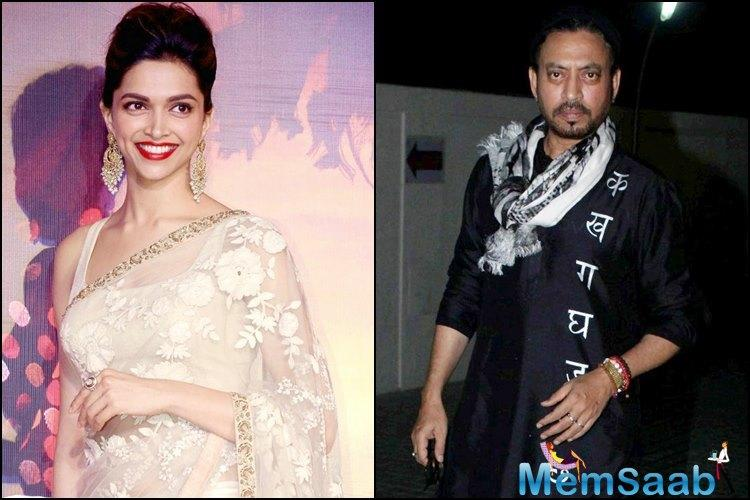 Deepika and Irrfan's breezy chemistry in Piku had enthralled the audience. Now, the duo will come together for Vishal Bhardwaj's production venture.