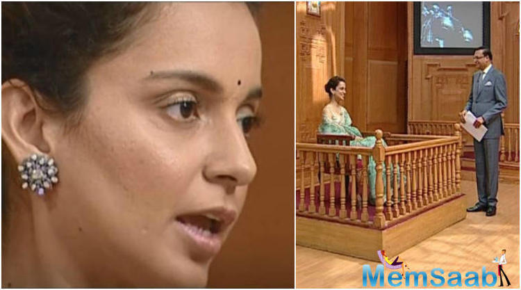 There, she has question about her legal battle with actor Hrithik Roshan last year.