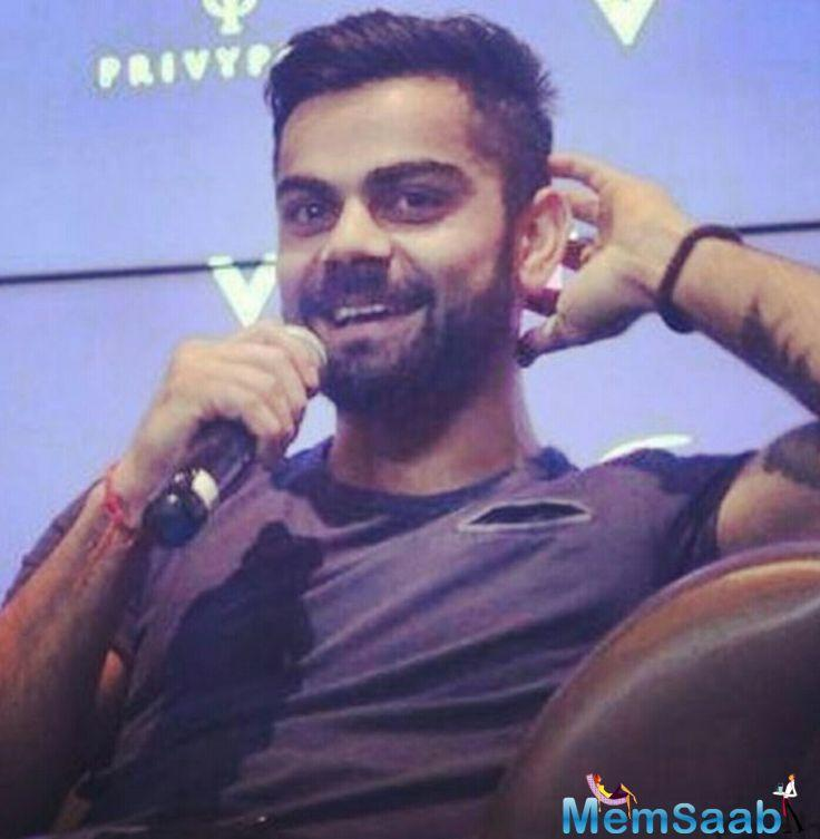 Kohli had even lent his voice for the anthem of Premier Futsal League composed by AR Rahman