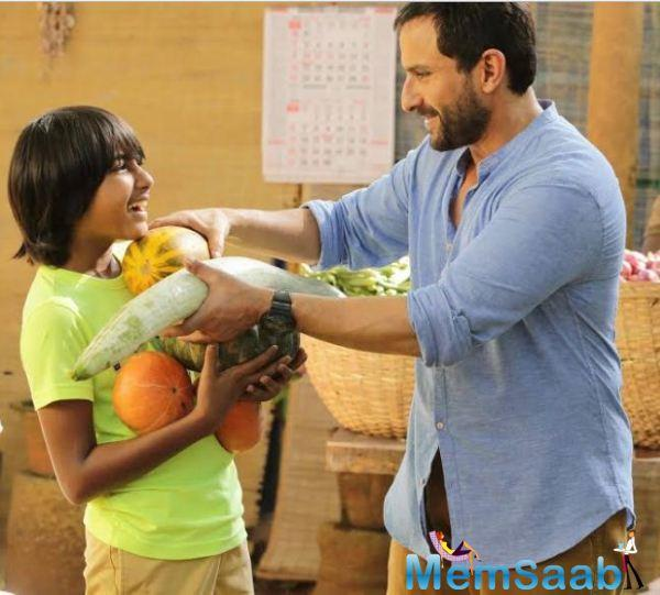 Saif is the biggest name in the film, with South Indian actress Padmapriya and child actor Svar Kamble.