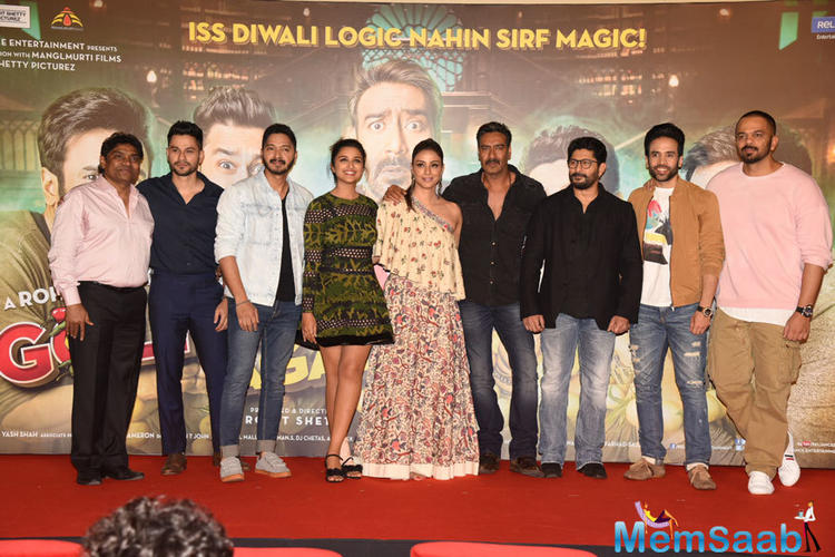 On Friday, Rohit Shetty's extravaganza film 'Golmaal Again's trailer was launched amidst much fanfare and galore at a suburban theatre.