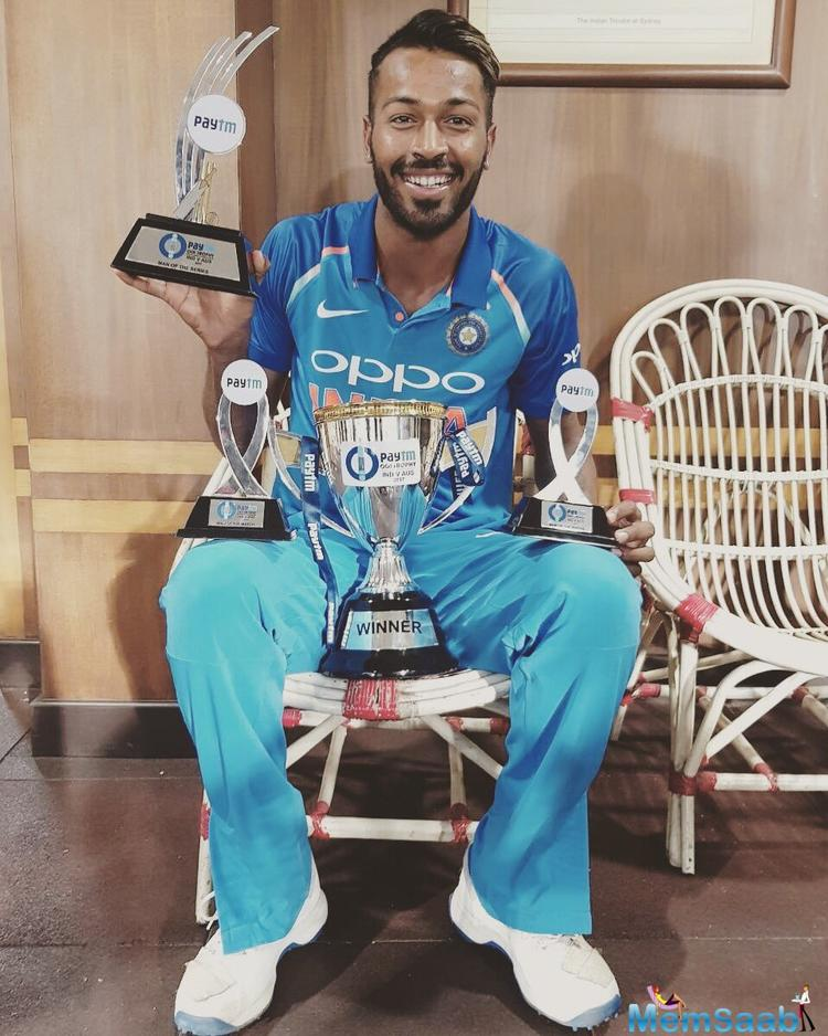 Hardik was India's third highest scorer in the series, striking 222 runs along with picking up six wickets.