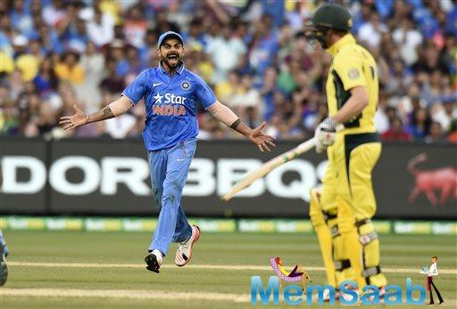 While Tim Paine had two lucky escapes in space of two balls off Chahal, his luck ran out soon as Jasprit Bumrah disturbed the timber to send the Australian wicket-keeper packing in the 18th over.