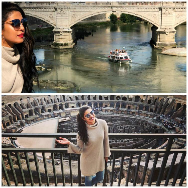 Priyanka also posed near Castel Sant'Angelo in Rome and said,