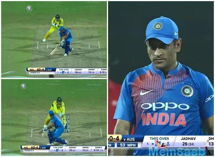 Zampa, in his quota of 4 overs, gave away only 19 runs and got rid of two large fishes in the form of MS Dhoni and Kedar Jadhav, as the Men in Blue crumbled to a miserable total of 118.