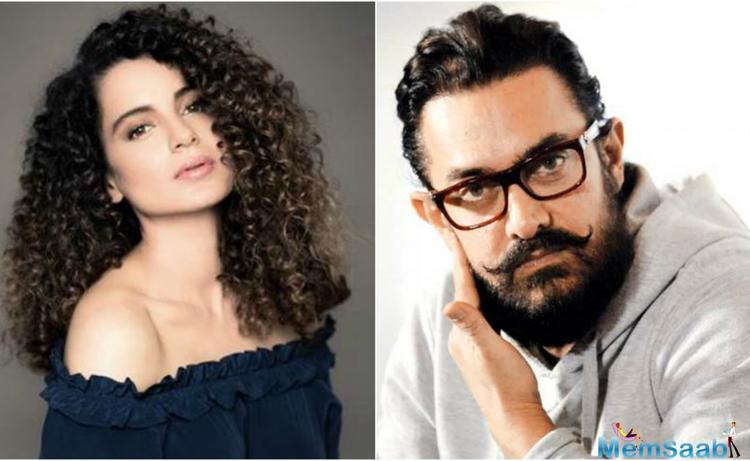 A section of Bollywood may be boycotting Kangana Ranaut, but Aamir Khan has given his support behind her.
