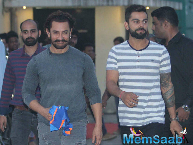 It was for the first time that the cricketer and actor came together for the promotion of the film.