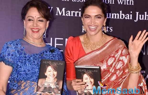 During the biography launch event of Her, Hema Malini said Deepika Padukone is the 'new age Dream Girl'.