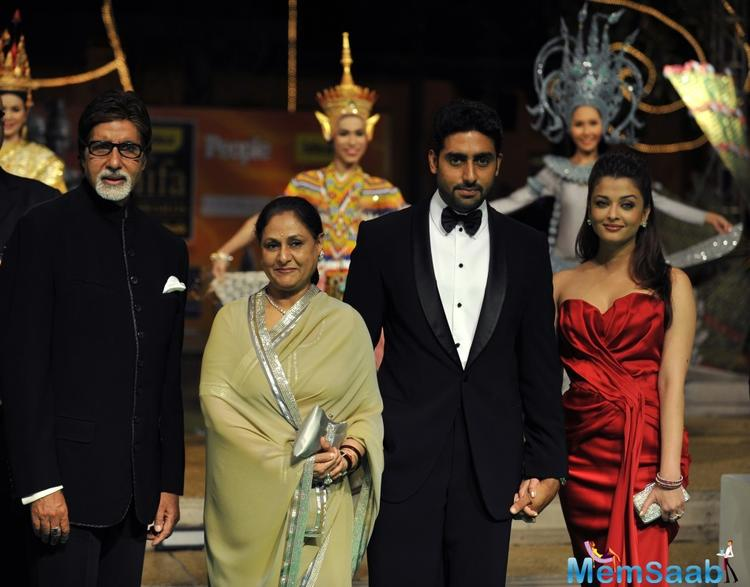 Interestingly, Amitabh and Jaya Bachchan's son Abhishek and daughter-in-law Aishwarya have been roped in to essay the parts of the singing couple who drift apart when the wife becomes more successful than the hubby.