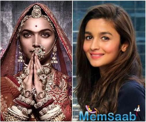 Rani Padmini was known to be the most beautiful woman and Deepika Padukone just fits the role appropriately.