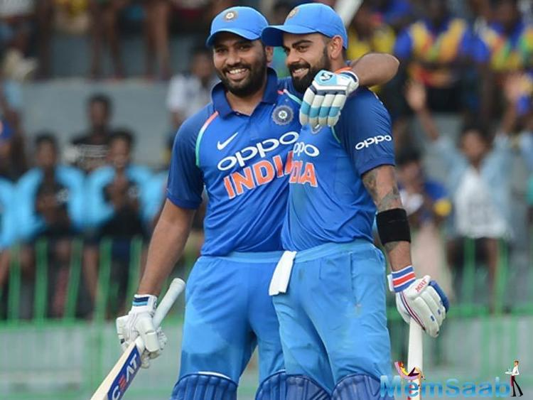 Rohit and skipper Virat Kohli, who became fastest to score 9000 ODI runs, stitched a 230-run partnership as India scored 337 runs after put in to bat.