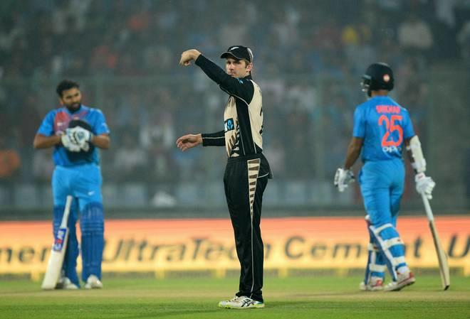 India was put to bat by Kane Williamson, but that did not stop the hosts from scoring as they posted a mammoth total of 202-3 from 20 overs.