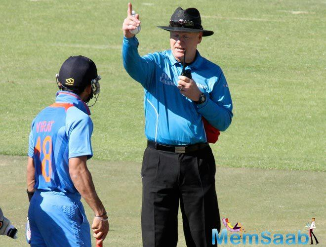 Team India captain Virat Kohli was on Wednesday picked up using a walkie-talkie at the dug-out during the hosts' innings.