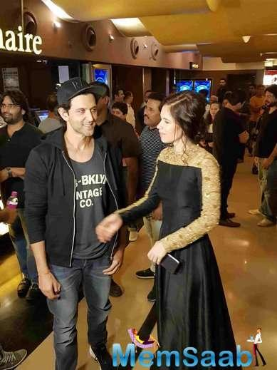 Asked what he thinks about Kalki as an actress, Hrithik said: