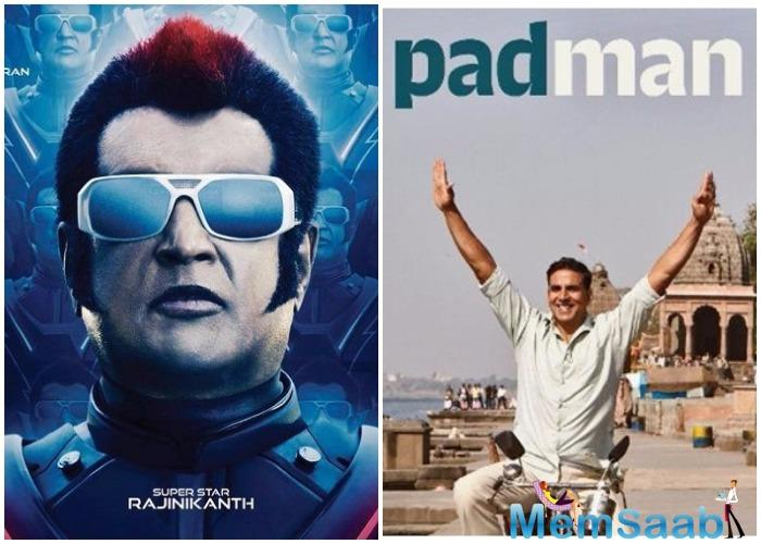 While Padman is a film that I have produced, 2.0 belongs to Shankar, Rajinikanth and Lyca Productions.