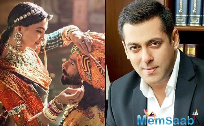 Salman, who has worked with Bhansali in Khamoshi, Hum Dil Chuke Sanam and Saawariya, support him and feels no decision should be made without watching the film.