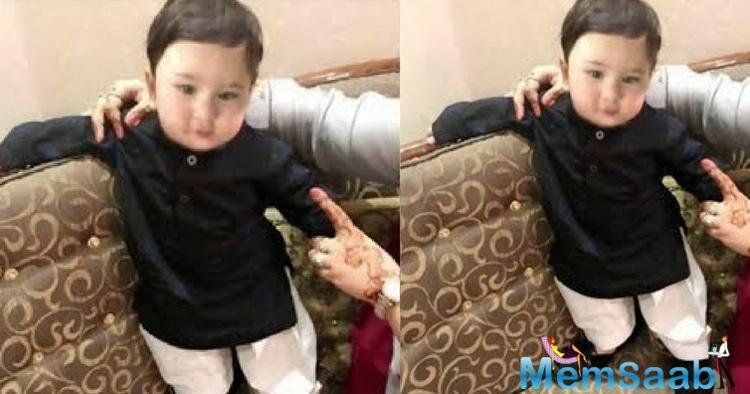 We can't wait to see Taimur take his first ride with doting daddy Saif Ali Khan.
