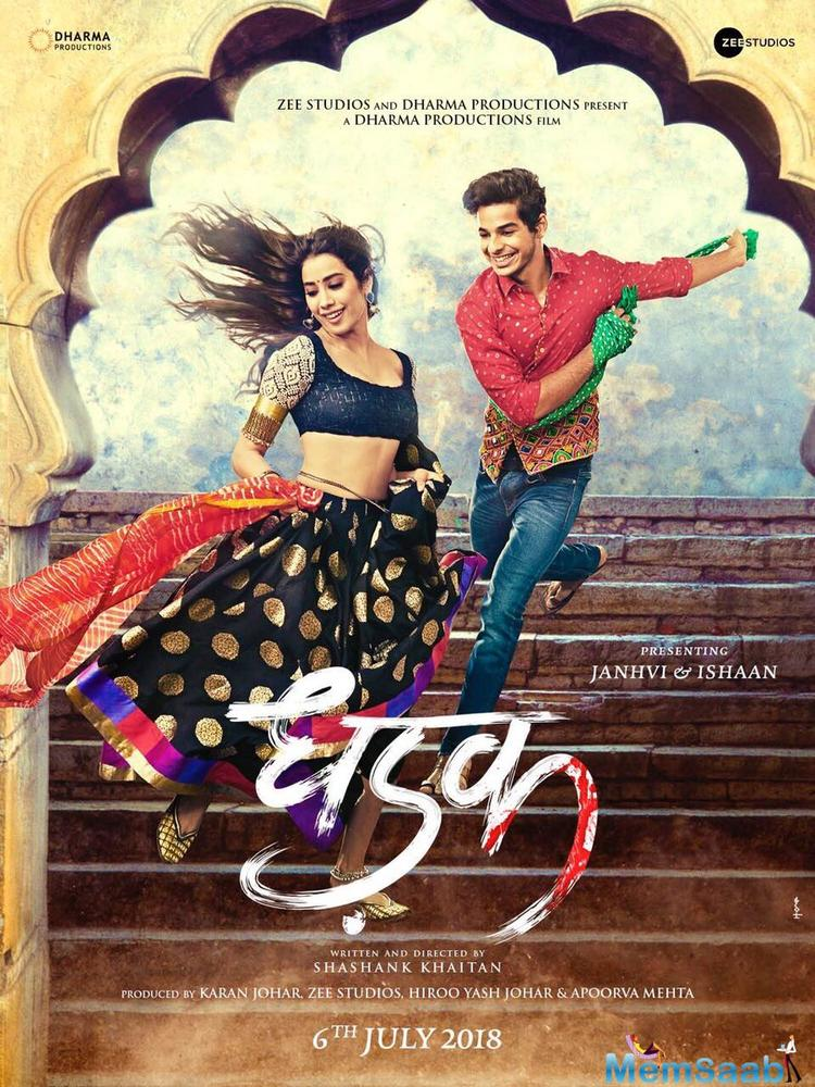 Dhadak is an official remake of 2016 blockbuster Marathi film, Sairat, starring Rinku Rajguru and Akash Thosar. This was the first Marathi film which grossed 100 crore in the box office.