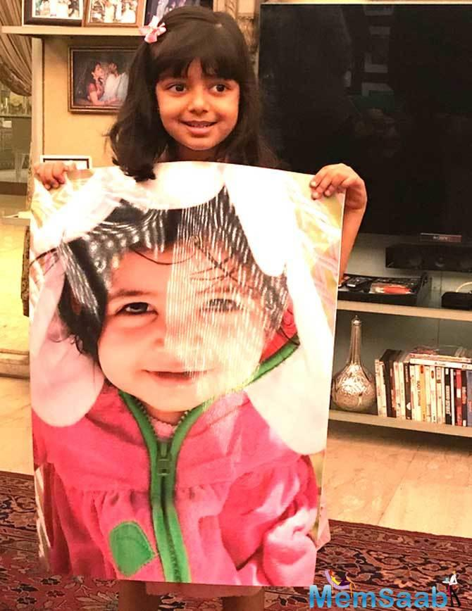 Amitabh, 75, also shared a photograph of Aaradhya on Twitter on Wednesday night.