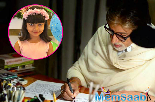 Megastar Amitabh Bachchan says that his granddaughter Aaradhya's presence brings a lot of happiness in their home and life.