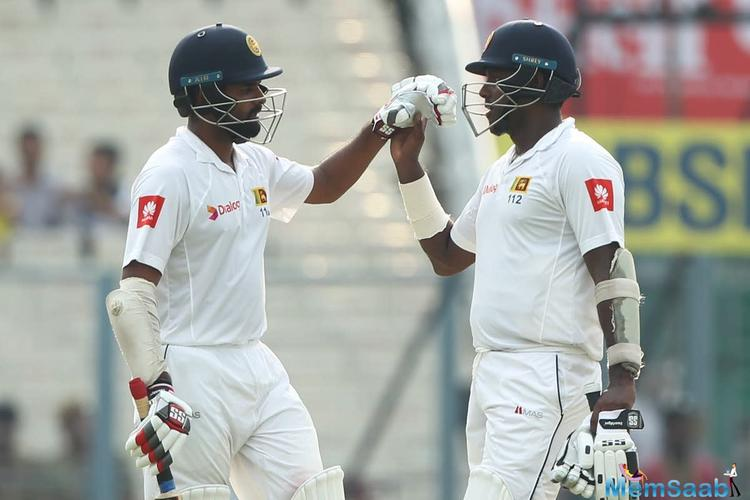 This was followed by a 99-run partnership between Angelo Mathews and Lahiru Thirimanne, after which the latter departed for 51.