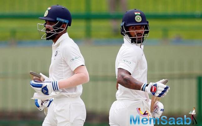 After bundling out for 172 in the first innings, KL Rahul and Shikhar Dhawan boosted India's hopes of a comeback win with a crucial century partnership on Day 4 of the first Test at the Eden Gardens.