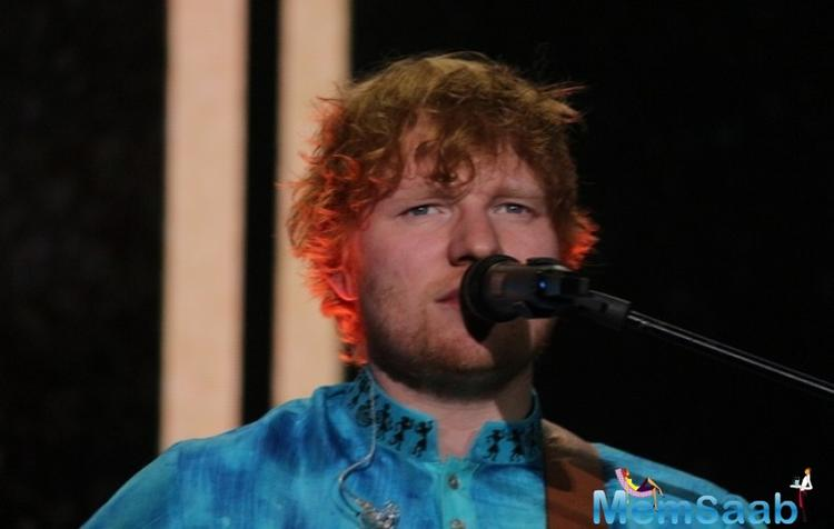 "Sheeran also gushed about the ""different curries"" he had for lunch and dinner, and said he hadn't got a chance to explore the city much due to security reasons."