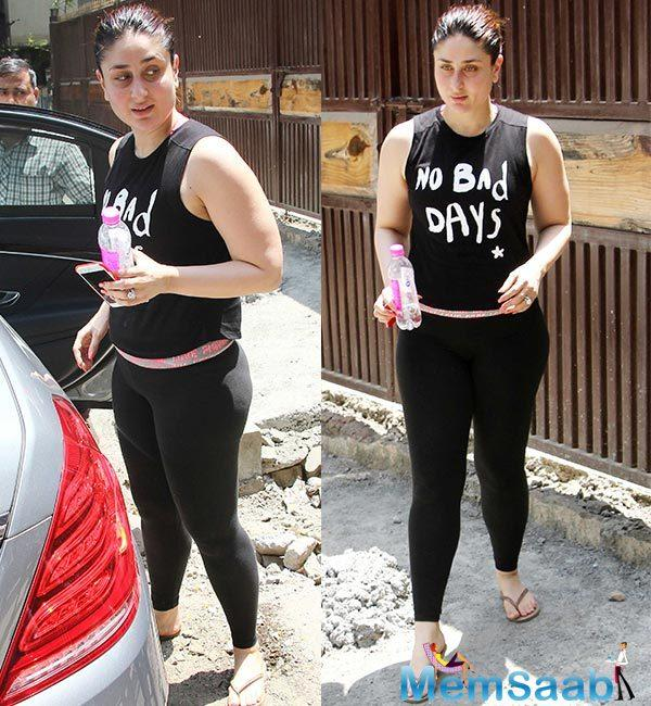 The actress has been working out strenuously and following a diet to get back into shape post her pregnancy.