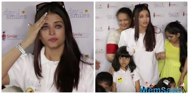 Aishwarya kept her calm for a while but looked upset with the photographers. But ultimately she broke down and was left in tears. This behaviour was obviously uncalled for.