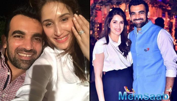 Sagarika Ghatge got hitched to Zaheer Khan in a court marriage today morning