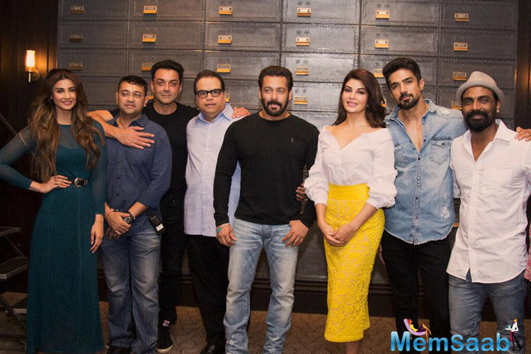 Apparently, Salman Khan will be welcoming the entire team of his upcoming film 'Race 3' on his reality show Bigg Boss 11.