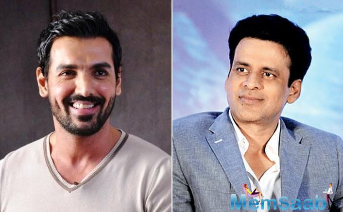 He tweeted, 'John Abraham and Manoj Bajpayee to star in an action thriller.
