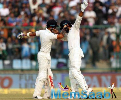 Sandakan followed it up by dismissing Ajinkya Rahane.