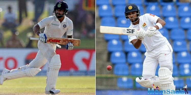 Ravindra Jadeja needed the TV umpire to make the breakthrough, Anil Choudhary reversing on-field umpire Joel Wilson's not-out call as the bowler ripped the ball into the advancing Perera's pads,
