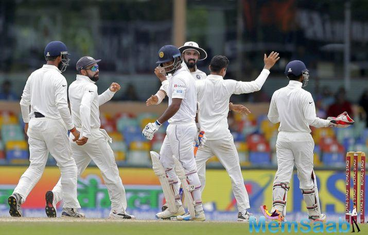 India finished Day 4 of the final Test against Sri Lanka on a good note after setting up a target of 410 at the Feroz Shah Kotla in New Delhi.