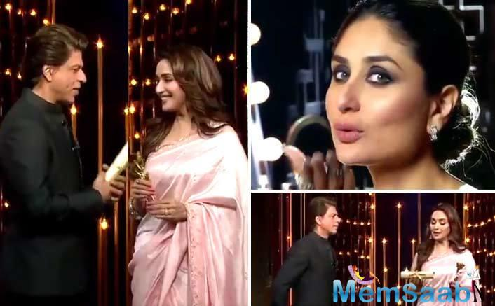 The letter says that Kareena brightens the screen with her appearance. Madhuri also writes that Kareena is an example for all mothers. The letter is dripping with sweetness. Here it is.