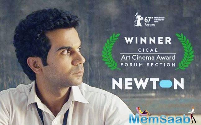 Newton, directed by Amit V. Masurkar and starring the stellar Rajkummar Rao in a story set against the backdrop of elections in the world's largest democracy, was not a part of it.