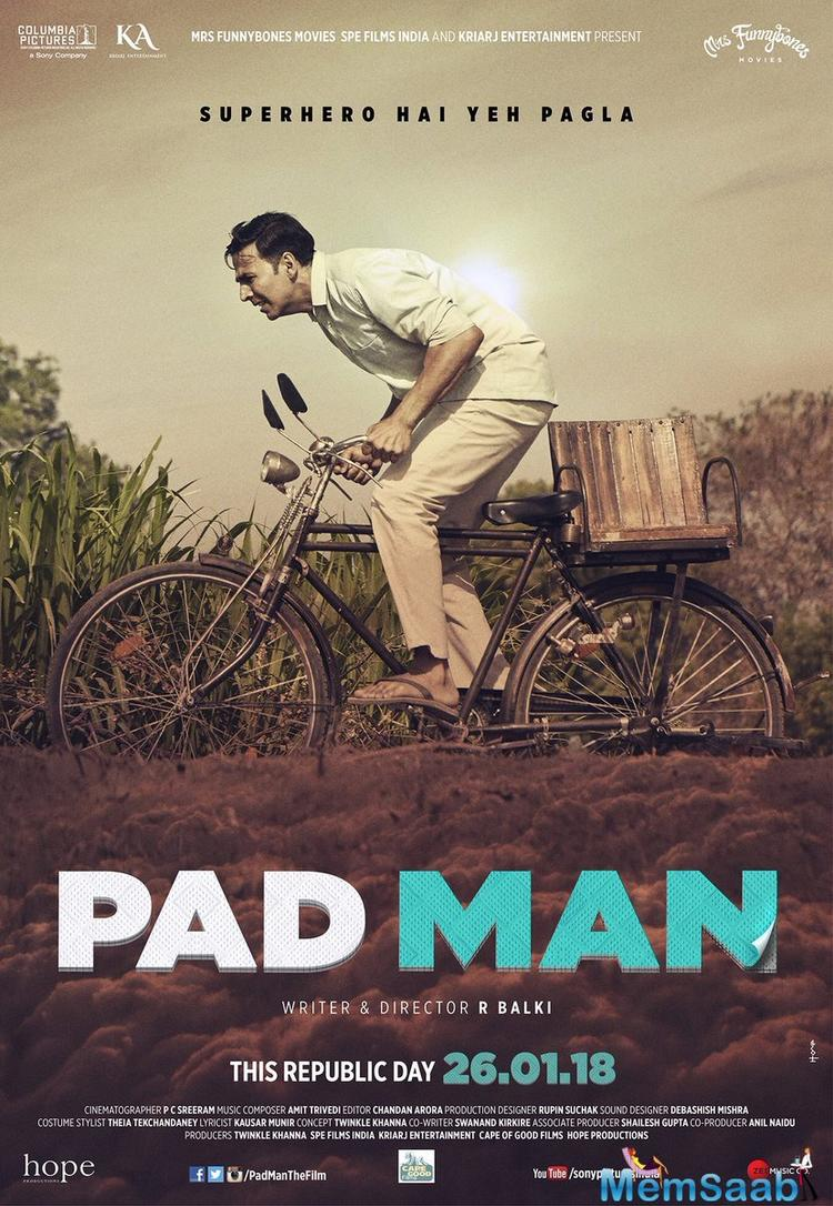 Another new poster was released today where Akshay is seen cycling in the scorching heat looking all exhausted.