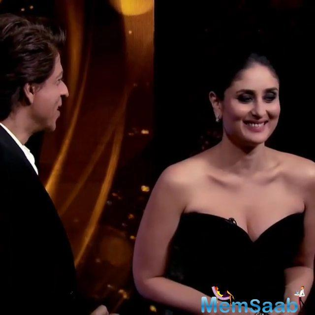 Rest of the show was pretty blah! It started with Shah Rukh enacting the antics of the many members of the Kapoor family and Kareena guessing it. She failed the test completely.