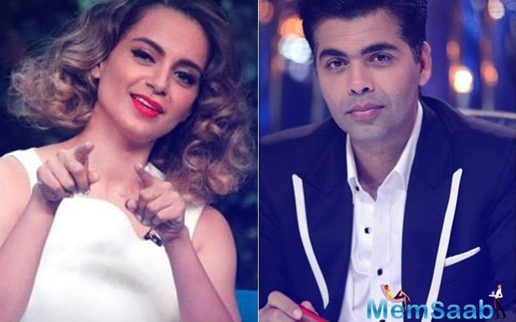 It was no less than a surprise when Kangana Ranaut and Karan Johar agreed to share the stage on the latter's new television show.