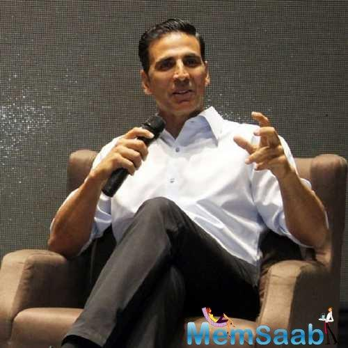 Always walking the talk, Akshay laughs when asked about wearing pink panties in the movie Pad Man.